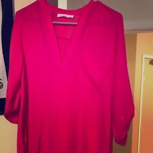 Long pink blouse